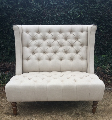 Queen Anne High Back Sofa