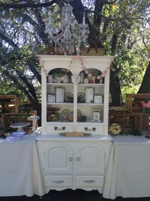 Mountain Wedding Set up/Chandelier
