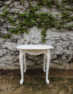 shabby distressed end table