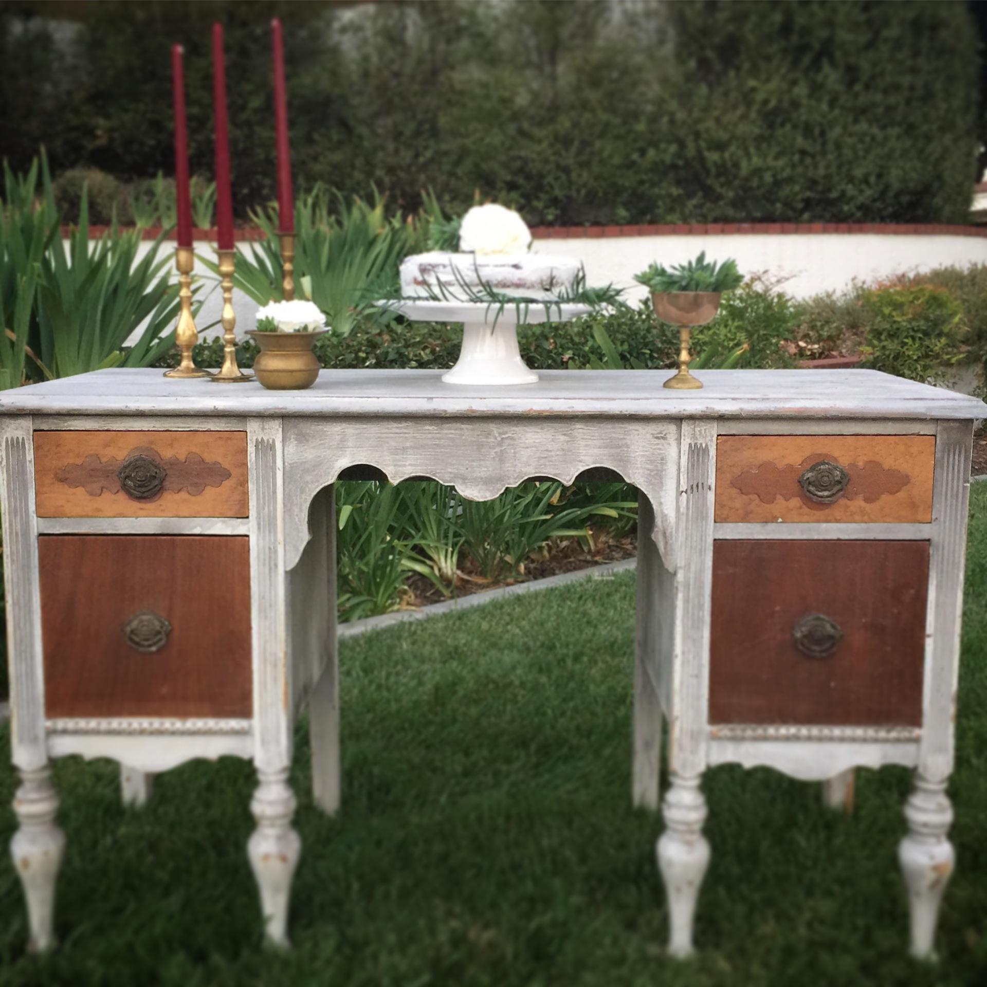 Vintage rustic elegance desk