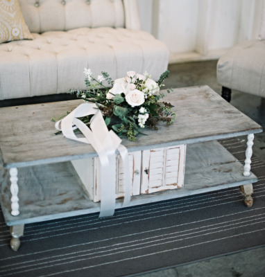 Vintage soft grey coffee table