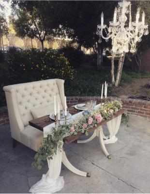 Architectural farm table / sofa