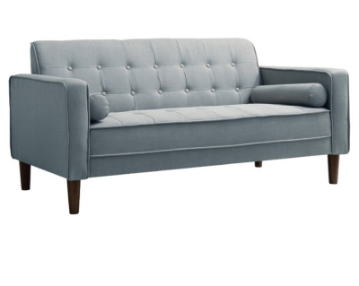 Modern soft blue sofa