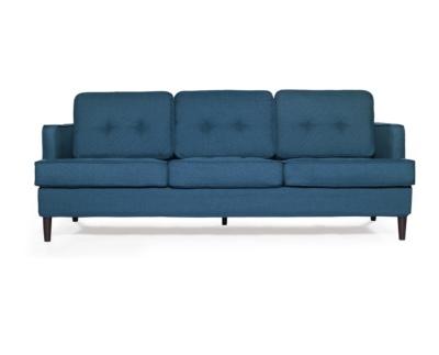 Modern Peacock blue sofa