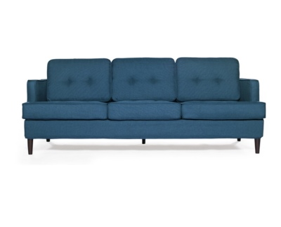 Modern Peacock blue sofa