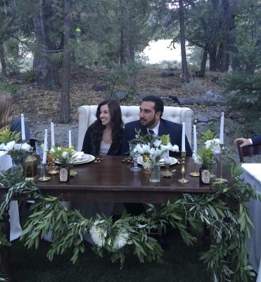 Romantic woodsy wedding