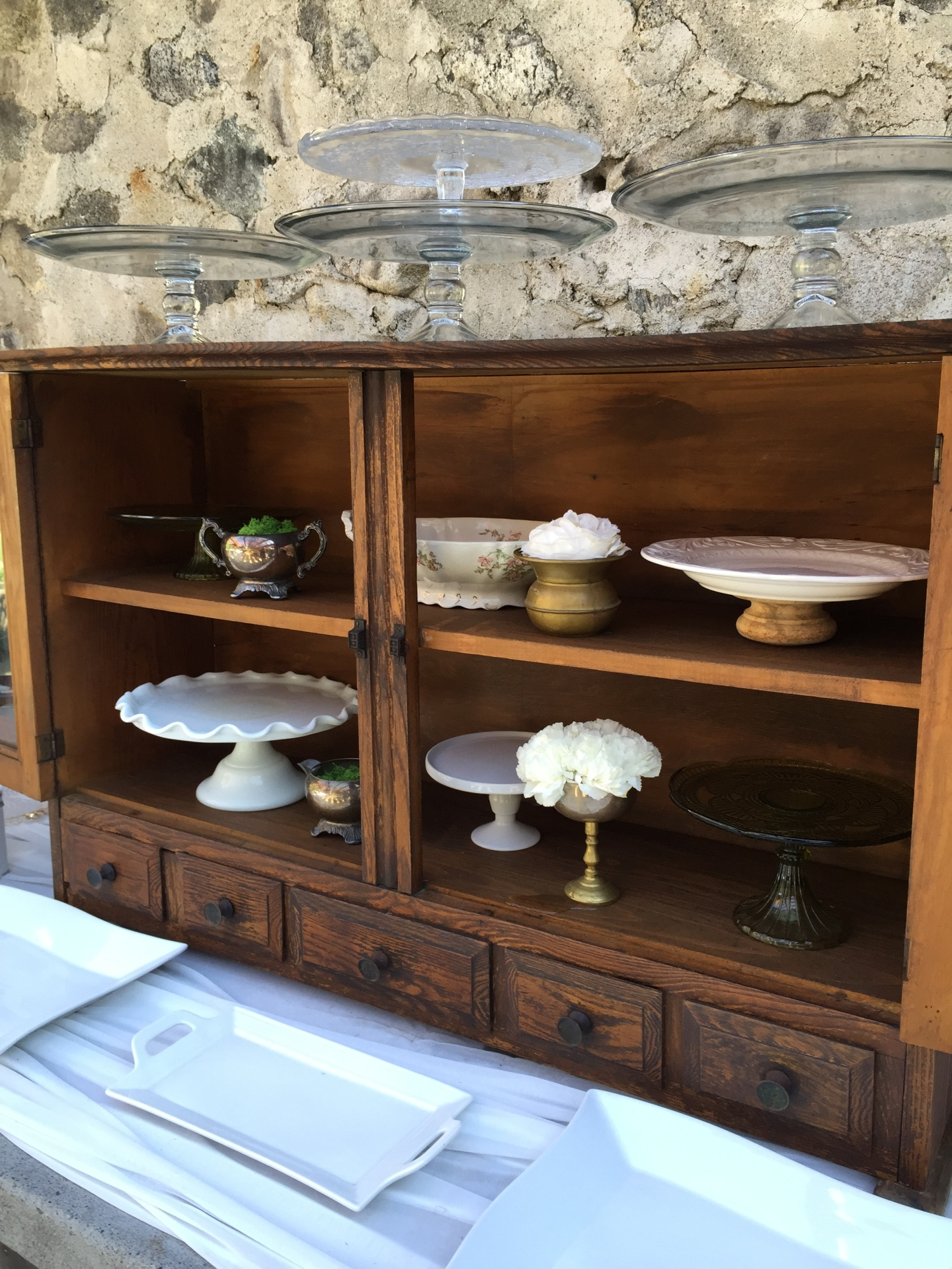 Vintage tuscan hutch top piece