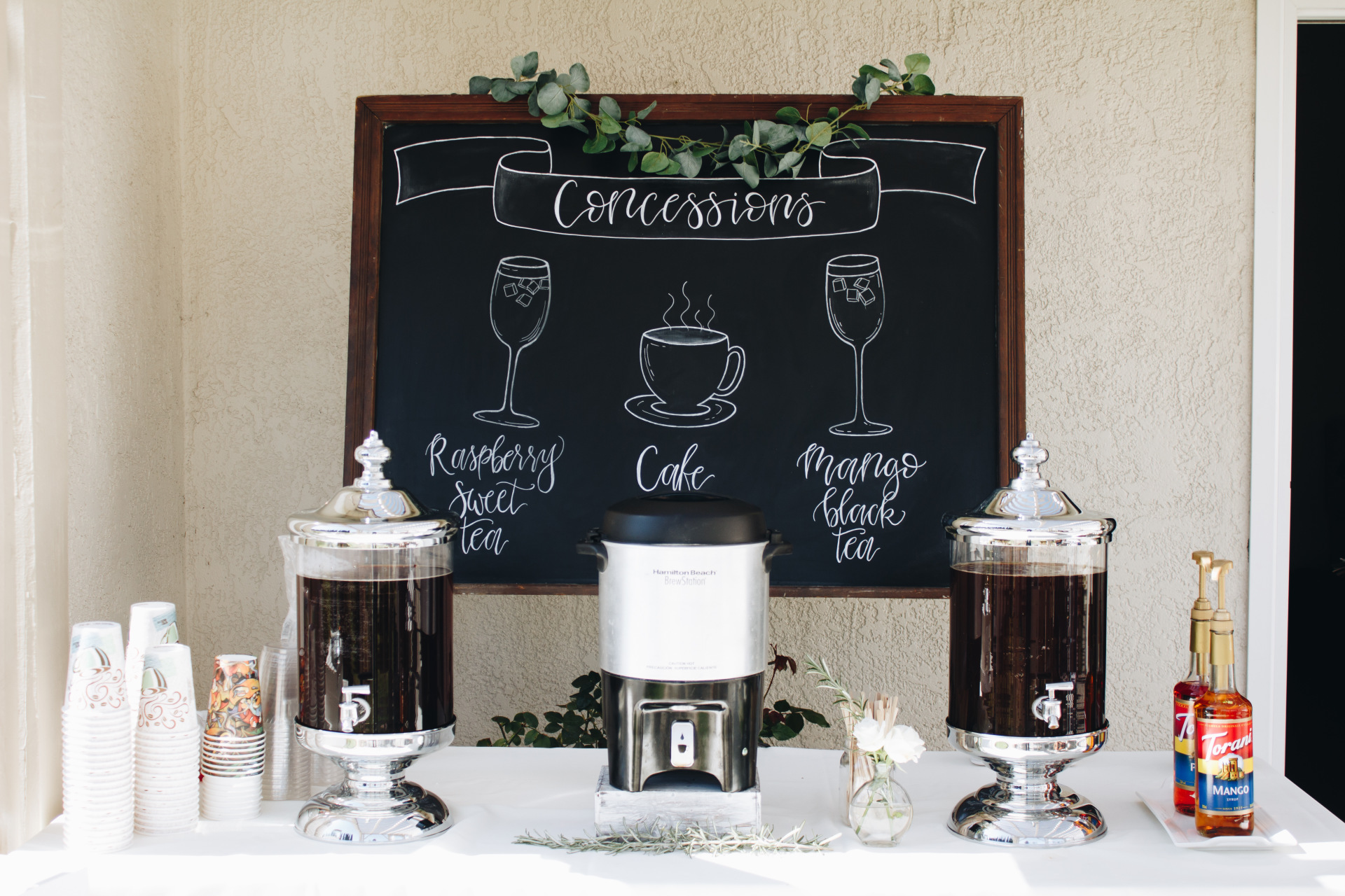 schoolhouse chalkboard beverage design