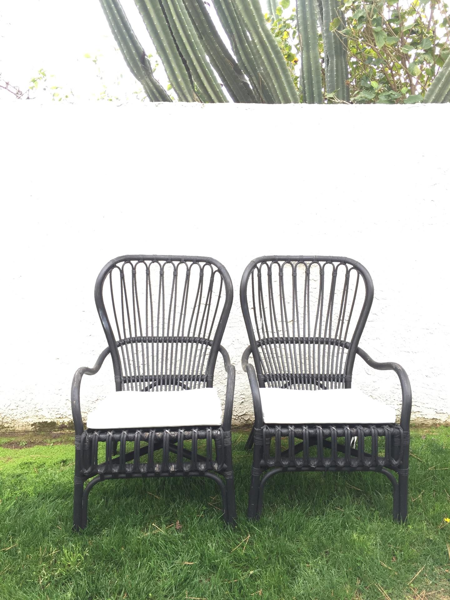 Rattan Black Chairs