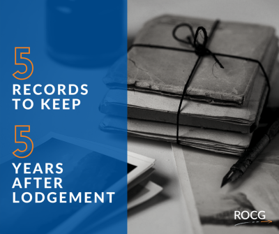 5 Records To Keep, 5 Years After Lodgement