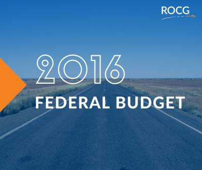 2016 Federal Budget Update
