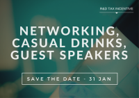 Networking Drinks - RandD Tax Incentive