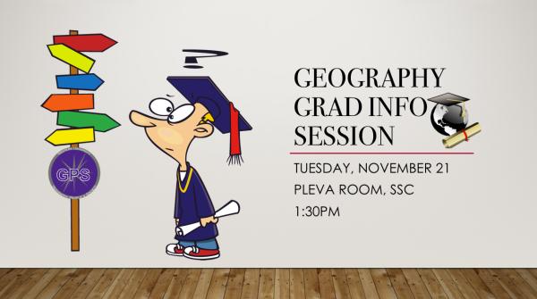 Geo Grad Info Session!
