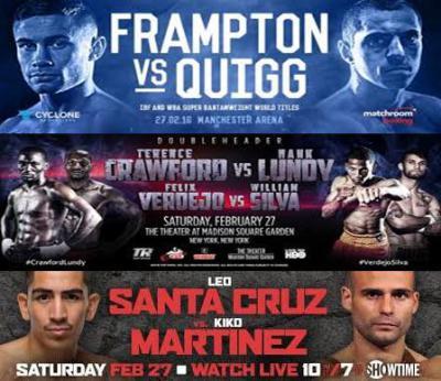Frampton vs Quigg, Crawford vs Lundy, Santa Cruz vs Martinez Preview & Predictions