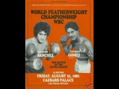 Memories of the Ring II: Salvador Sanchez vs Wilfredo Gomez