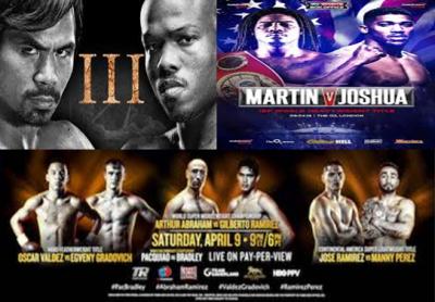 Pacquiao vs Bradley / Joshua vs Martin Predictions