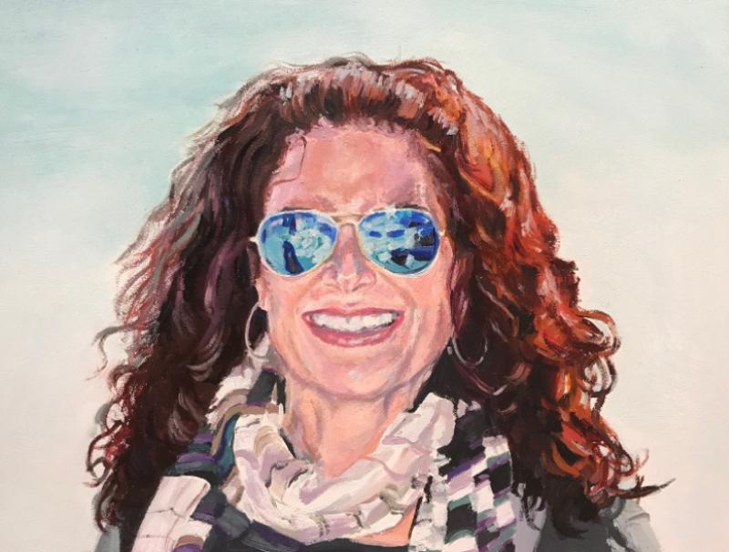 oil painting, portrait, delray beach artist, live event painter