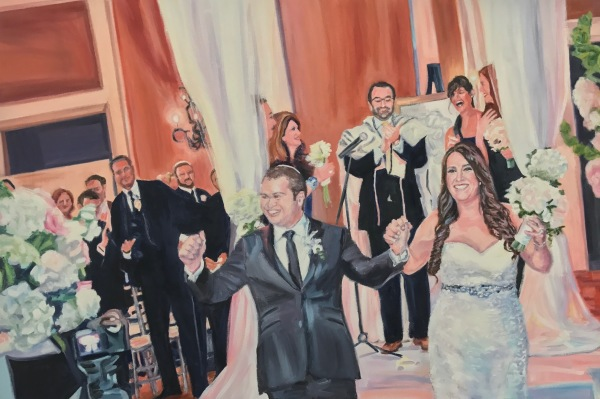 wedding portrait, commission, oil painting, anniversary gift