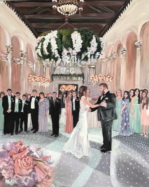 Live Event Painting by Nancy Spielman