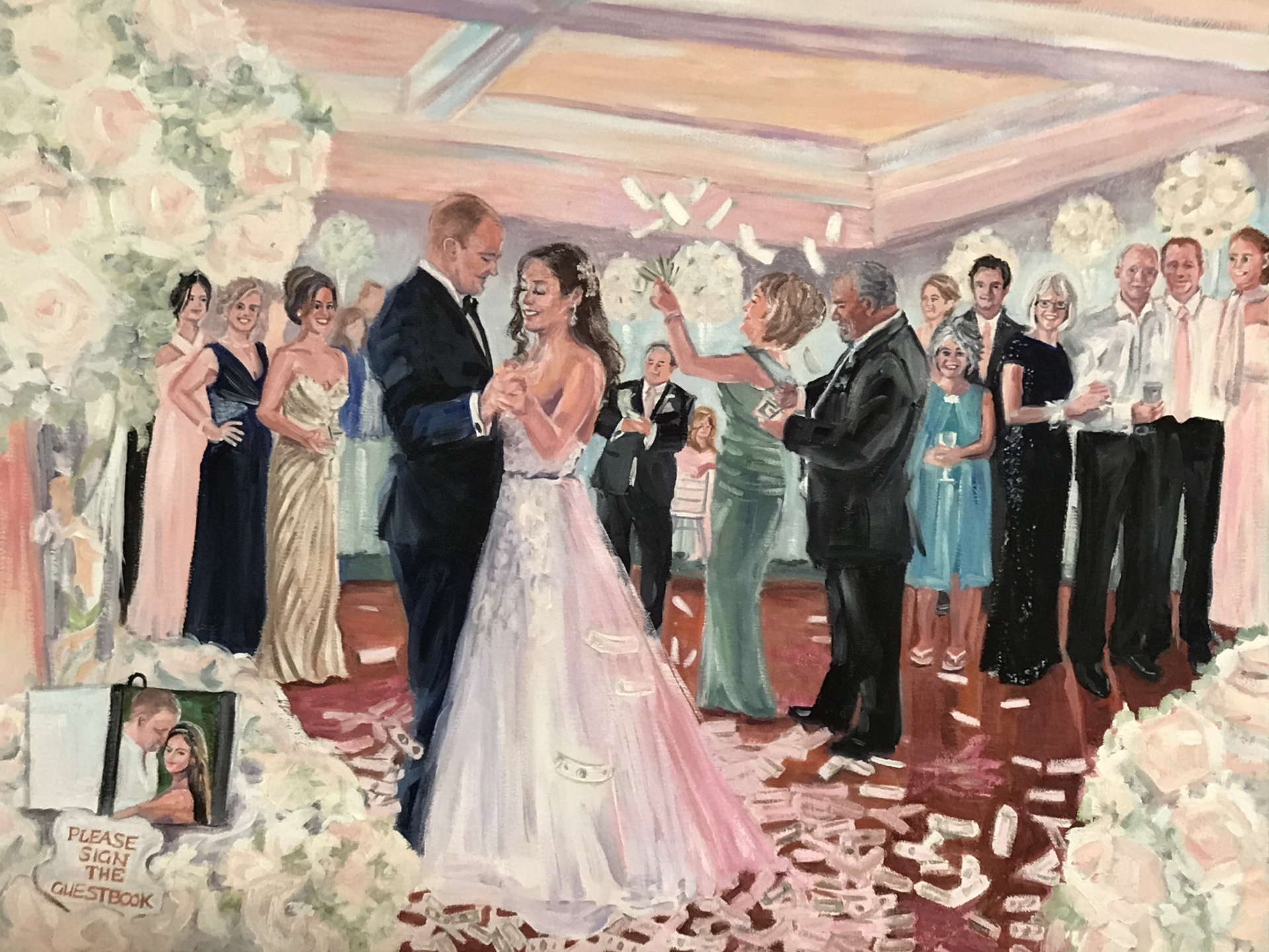 Event Painting by Nancy Spielman