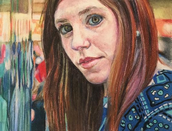 color pencil, color pencil drawing, portrait, delray beach artist