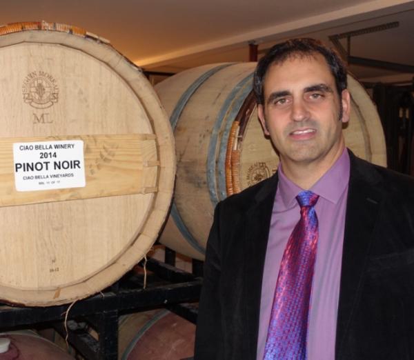 Roberto in the wine cellar