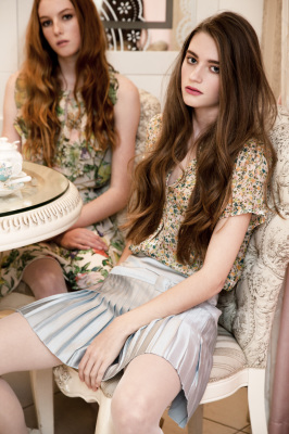 tea party fashion editorial brit beauty makeup hair fashion