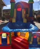 BIG JUMPING AREA, JUMPER WITH SLIDE, CASTLE WATERSLIDE, COMBO JUMPER, DOUBLE SLIDE COMBO JUMPER, JUMPER WITH SLIDE, WATERSLIDE WITH JUMPER
