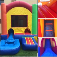 SMALL WATERSLIDE AND JUMPER, SMALL JUMPER WITH WATERSLIDE, JUMPER WITH SLIDE, SMALL COMBO JUMPER, SMALL JUMPER WITH SLIDE, TODLER JUMPER WITH SLIDE