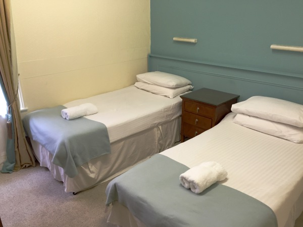 The New Oxford Hotel Blackpool Duck Egg Blue Twin Room.