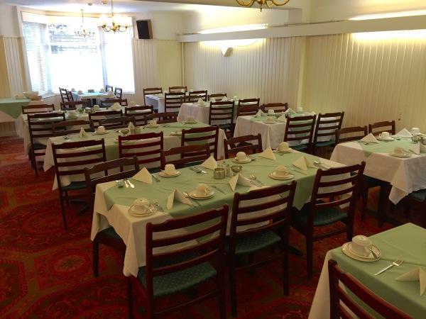 The New Oxford Hotel Blackpool Dining Room.