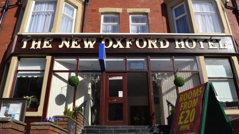 The New Oxford Hotel Blackpool Exterior.