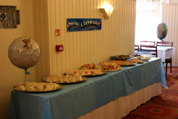 The New Oxford Hotel Blackpool Christening Buffet.