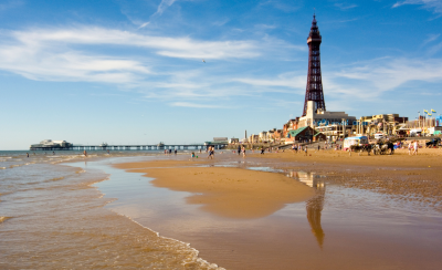 Blackpool Tower on a summers day.