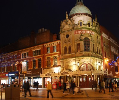 The Grand Theatre Blackpool at Night.