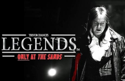 Title of the Legends Show at the Sands Venue Blackpool.