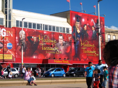 Madame Tussauds Wax Works Attraction on the Prom Blackpool.