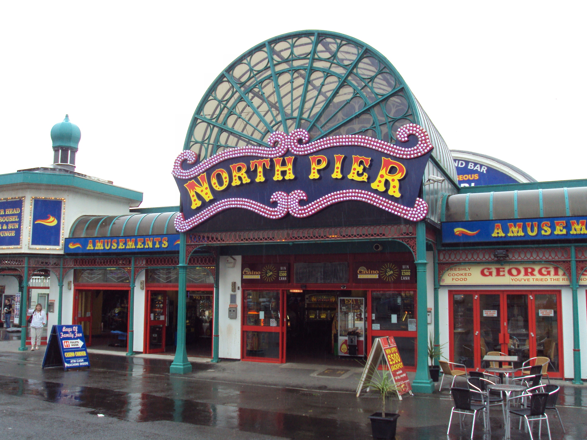 The Entrance to the North Pier Blackpool.