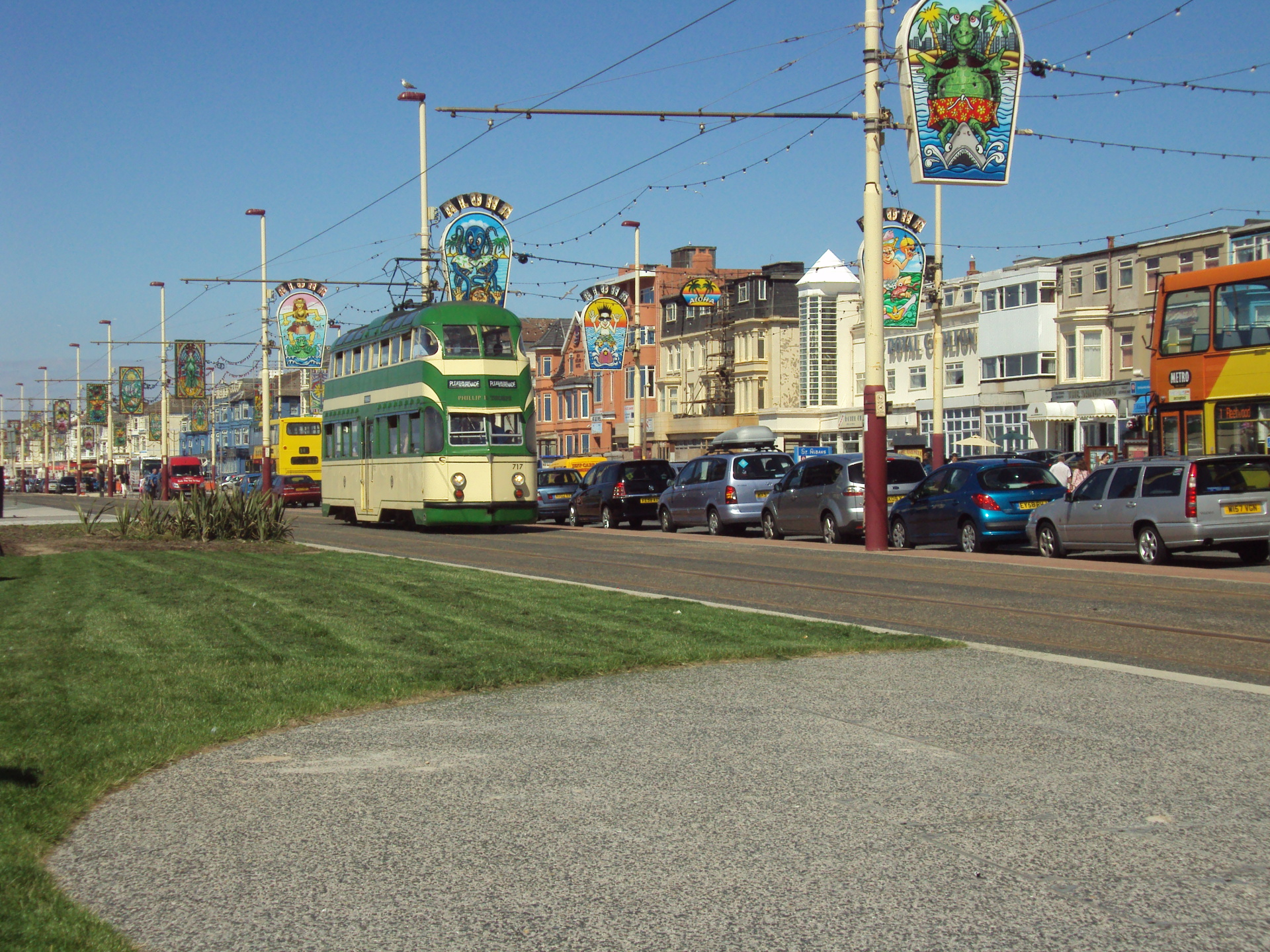 Blackpool Promenade Featuring a Blackpool Tram.