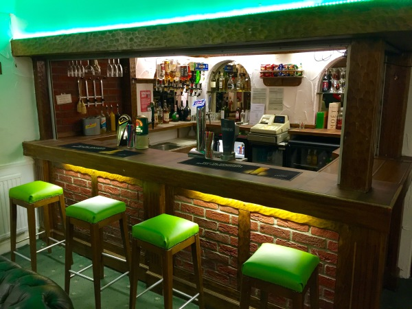 The New Oxford Hotel Blackpool Bar Area.