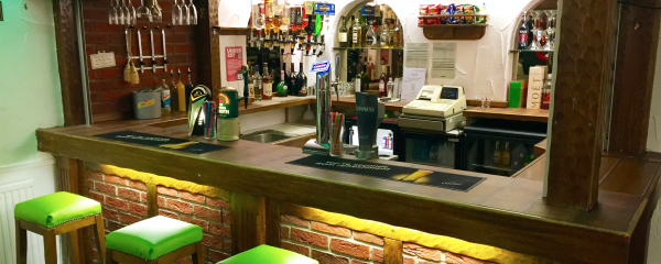 The Bar at the New Oxford Hotel Blackpool.
