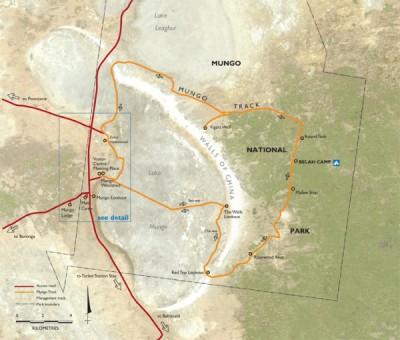 Lake Mungo Map - Mungo National Park