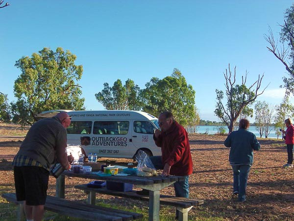 Morning tea at Regatta beach
