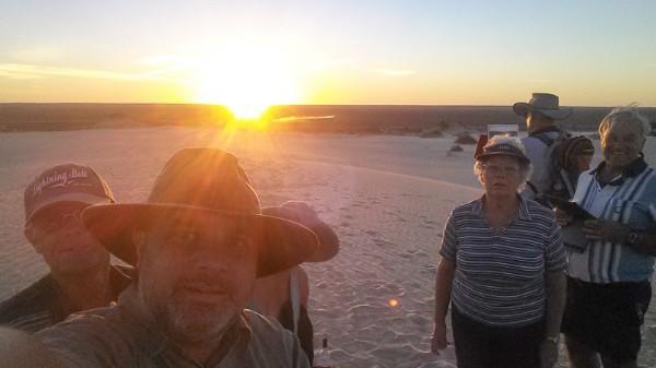 Mungo Sunset Selfie