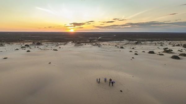 Drone Sunset Selfie