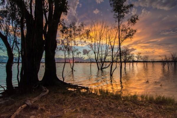 Yanga Sunset - Yanga Lake
