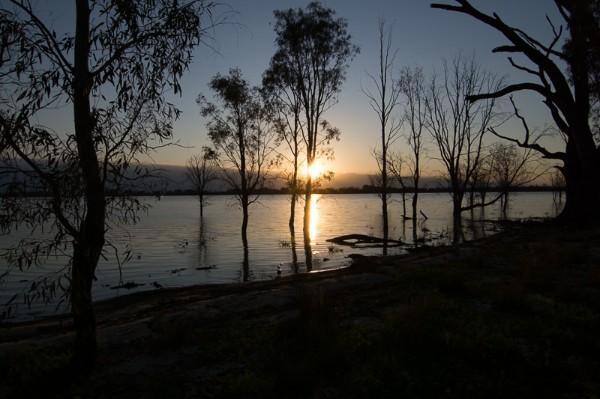 Sunset at Yanga Lake
