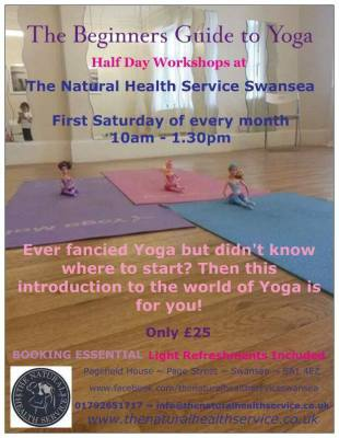 Beginners yoga workshop swansea