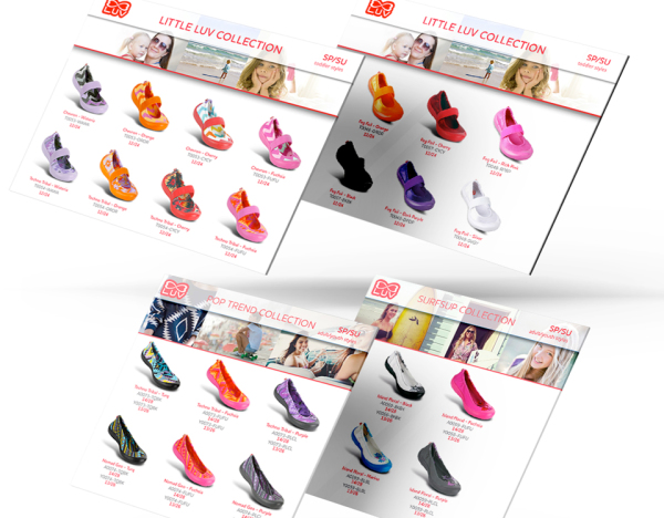 LUV Footwear Line Assortment Sell Sheets
