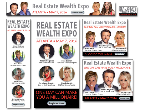 Real Estate Wealth Expo Web Banner Ads